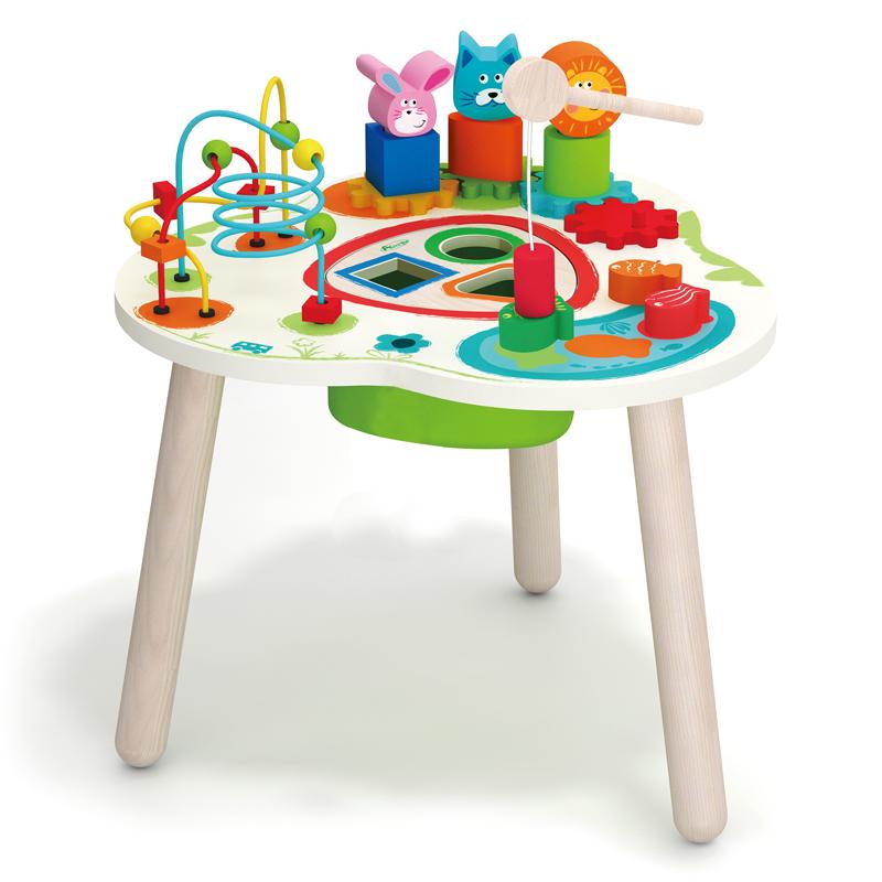 Купить со скидкой развивающая игрушка-столик ultratoy table-14 деревянная от магазина Ultra-mart